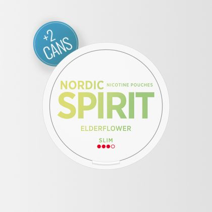 Nordic Spirit Elder Flower Slim All White