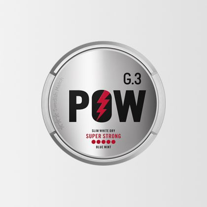 G.3 POW Super Strong Slim All White