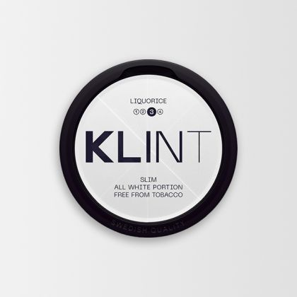 Klint Liquorice Strong Slim All White