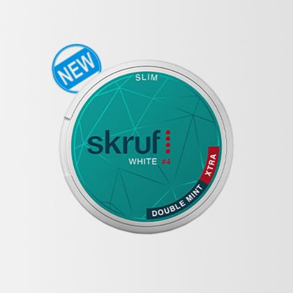 Skruf Slim Double Mint Xtra Strong
